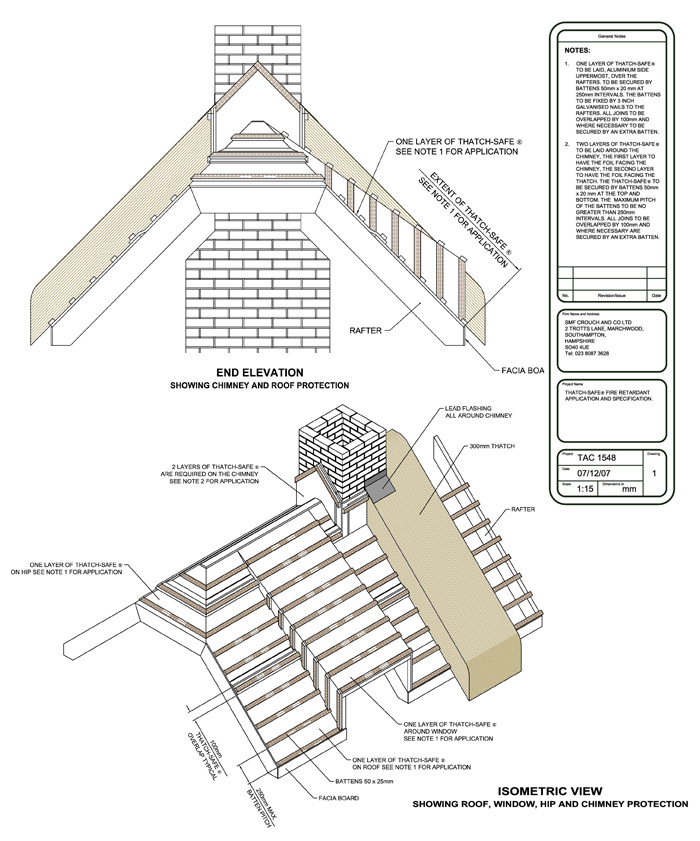 Thatch-Safe® Technical Drawing